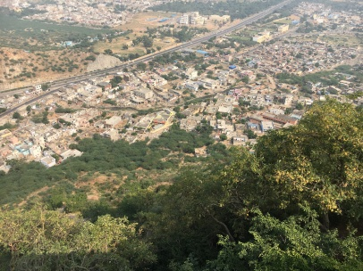 View from the Chulgiri Jain Temple